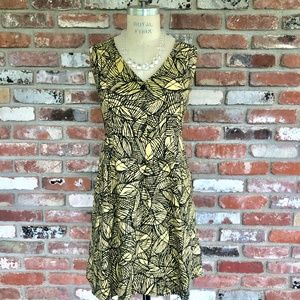 Anthropology button front tank dress